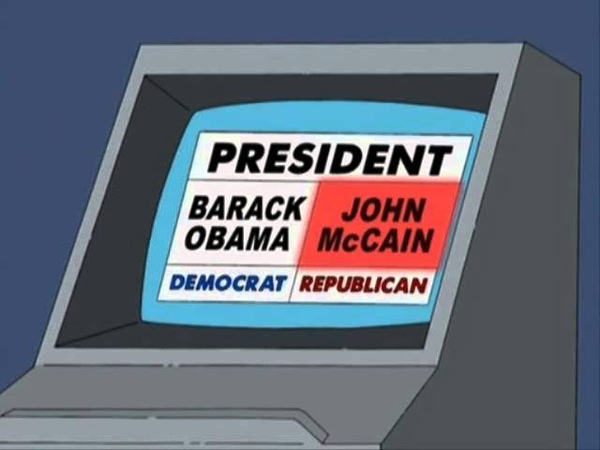 Homer Simpson Votes For Obama