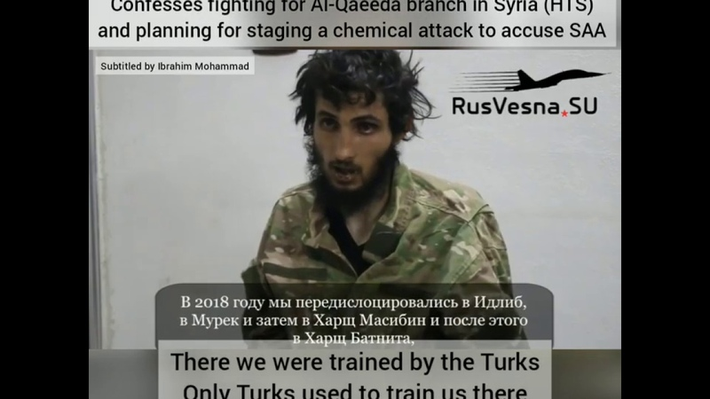 A terrorist captured by the Syrian Arab Army and confessed planing for staging a chemical attack