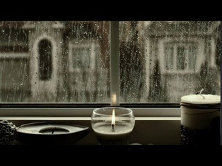 Rain On Window with Candles and warm atmosphereㅣHeavy Rain for Sleep, Study and Relaxation
