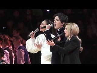[HD Fancam]Dimash, Lara Fabian & Aida Garifullina《Ti Amo Cosi》live at 's concert in Moscow