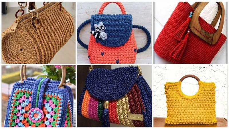 Latest stylish very useful designers crochet handbags designs for ladies casual style