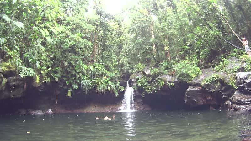 Гваделупа Еще один водопад и бассейн