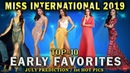 MISS INTERNATIONAL 2019 EARLY FAVORITES 1st HOT PICS @ OMG Pageant Glamour