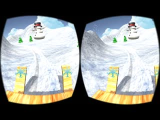 Virtual Reality. Christmas 3D VR SBS