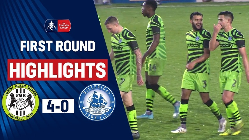 Forest Green Comfortably Progress Forest Green Rovers 4 0 Billericay Town Emirates FA Cup 19 20