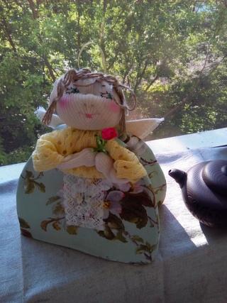 Цветочный чай  Грелочка-ангел (на заварочный чайник)