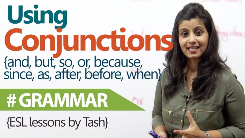 English Grammar lesson - Using Conjunctions correctly in sentences ( free English Lessons)