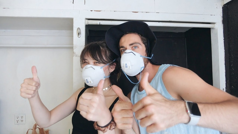 We inhaled too many paint fumes lol (room makeover bloopers)