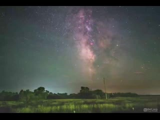 Earth's rotation visualized in a timelapse of the milky way galaxy 4k(0).mp4