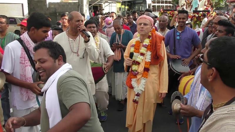 HH Kadamba Kanana Swami - Mauritius Ratha Yatra 06.10.2018