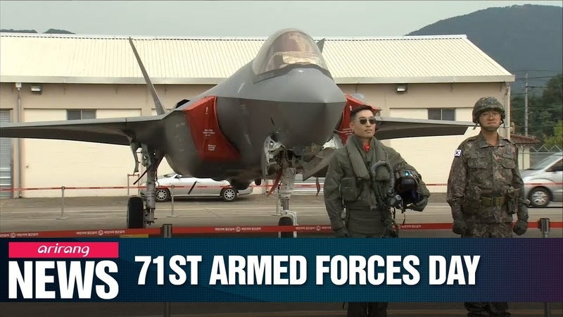 S Korea celebrates 71st Armed Forces Day showcases F 35A jets to public for first time