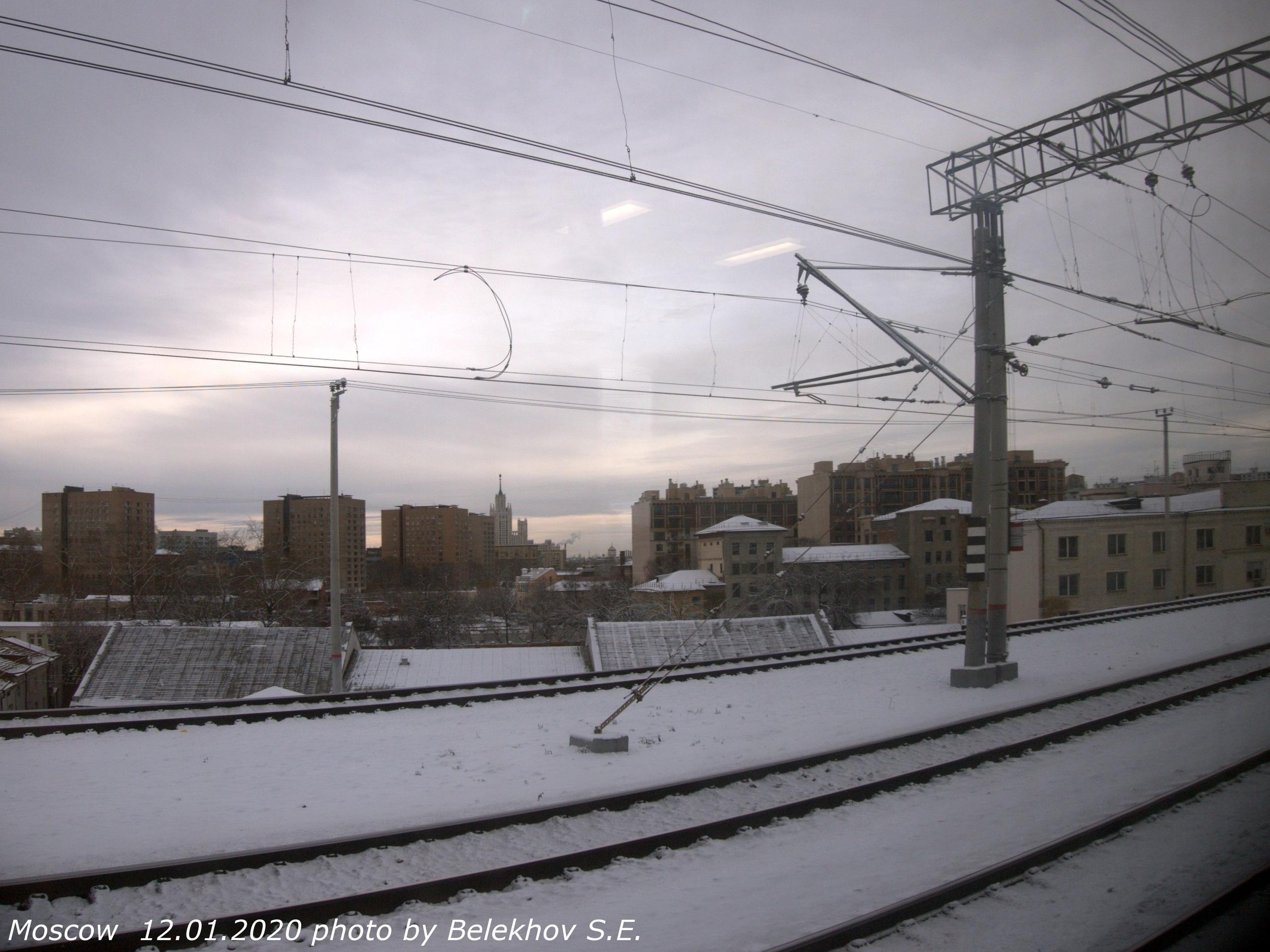 Москва, зима, МЦД2
