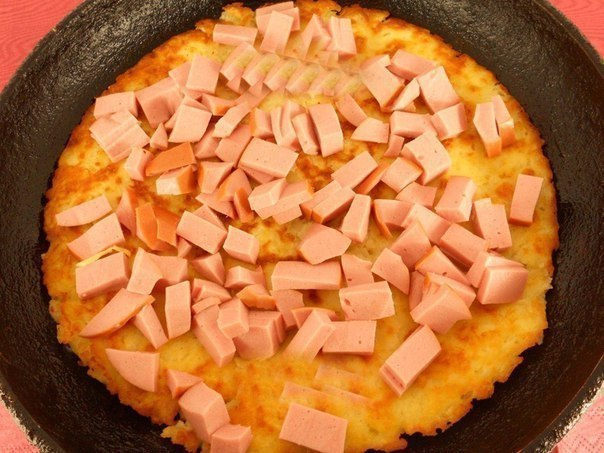 Вкуснейшая картофельная пицца на сковороде!