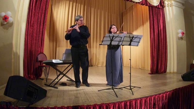 Hotteterre. Prelude 2 Rondos b-minor. Vlad Khrobystov flute, Liudmila Eliseeva violin