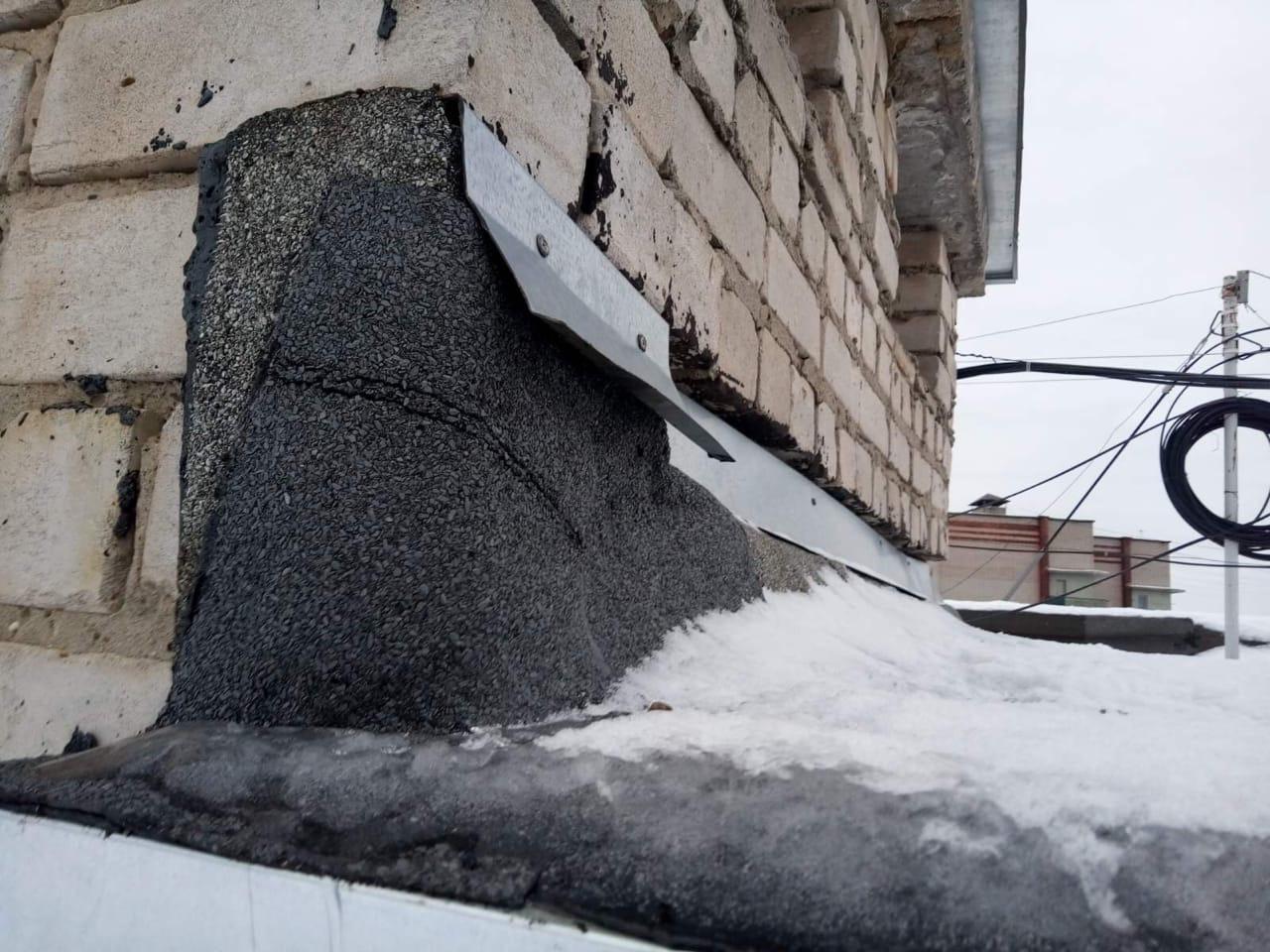 Улица Упита дом 13 установка нового капельника