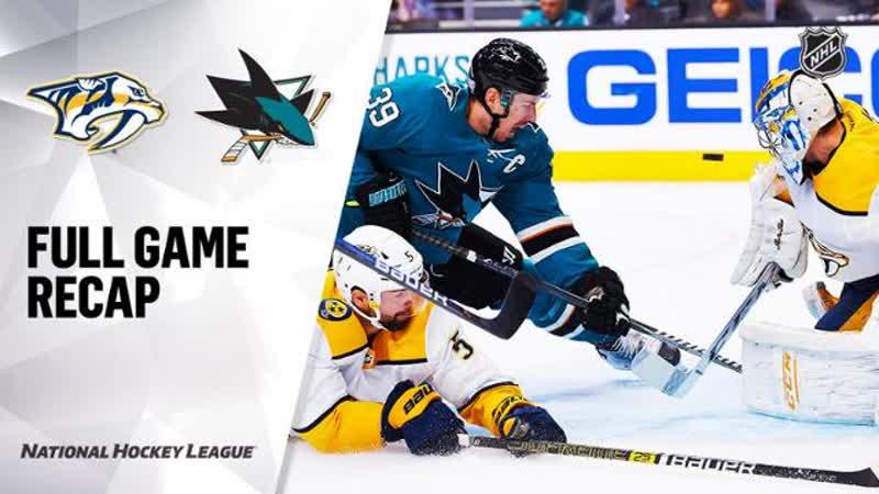 НХЛ - регулярный чемпионат. Матч №17. «Сан-Хосе Шаркс» - «Нэшвилл Предаторз» - 2:1 Б