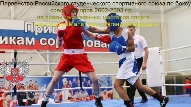 Первенство РССС по боксу на призы змс Малетина и Макаренко Финалы