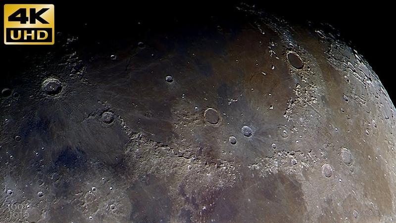 Цветная Луна 4K видео с обработкой