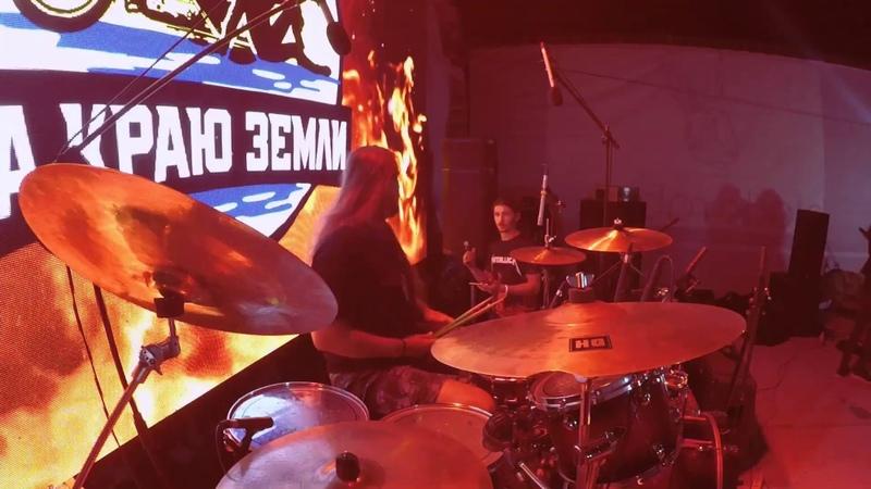 Kolizey Kings of Metal Manowar cover Live Drumcam