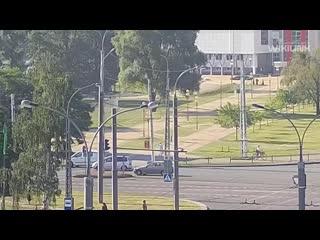 Появилось видео, как в Бресте сбили велосипедиста на ул. Московской
