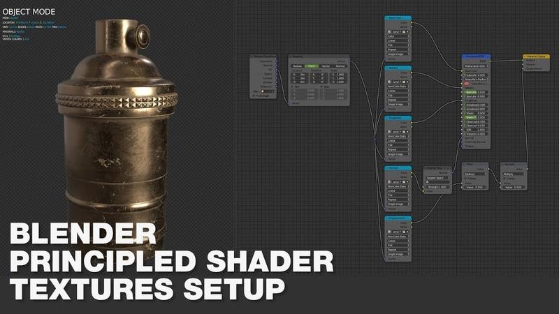 Blender Tips - Principled Shader - Automatic Texture Setup - English
