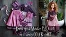 Dress up a Minifee BJD doll in a fancy OOAK outfit