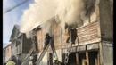 Дознаватели выясняют причину пожара в поселке Белый Яр