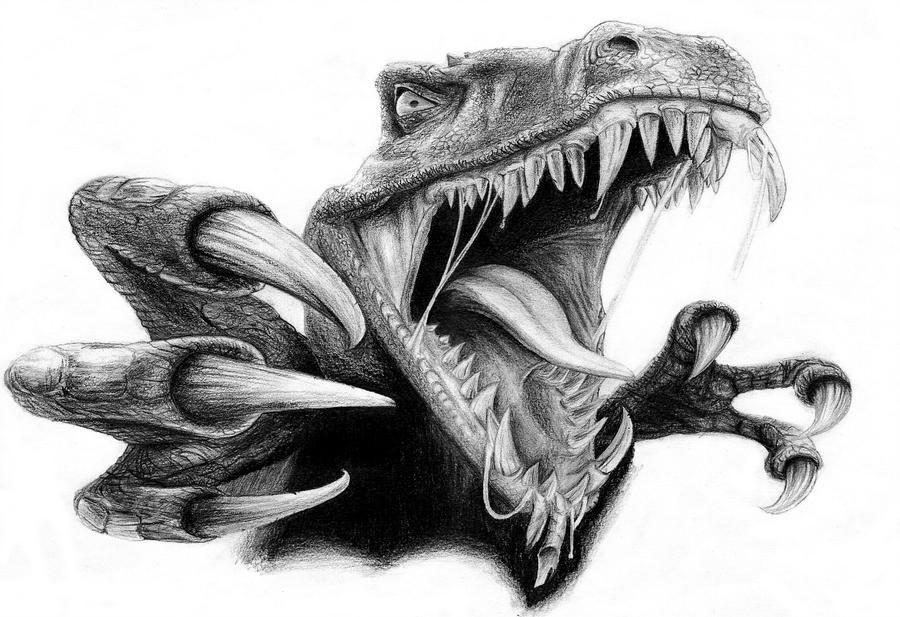 Открытки для, крутые рисунки динозавров