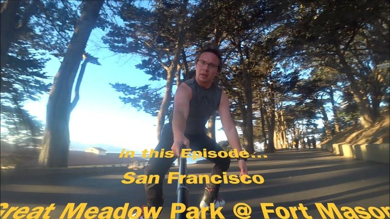 Rollerblade, freeskate in California. Episode 4. San Francisco, Great Meadow Park, Municipal Pier