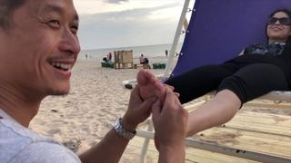 ASMR outside - Helping Friend - Pay It Forward - Tao Chi Kai - Palanga Beach