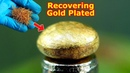 How to Recovering Gold from from Electronic Scrap gold plated material Pins Leg Connector