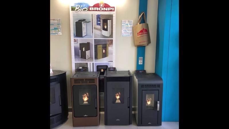FD-Pellets GIF fire stoves Bronpi gamme pellets9 kw