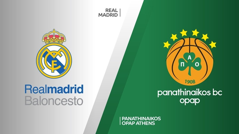 Real Madrid - Panathinaikos OPAP Athens Highlights | Turkish Airlines EuroLeague PO Game 1. Евролига, плей-офф. Обзор. Реал - Панатинаикос