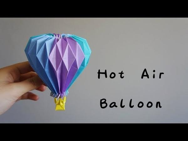 Origami Tutorial Hot Air Balloon (Yuri Katrin Shumakov)|Hello Malinda