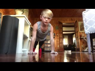 I actually completed the bring sally up pushup challenge11 year old(bring sally up challenge)!!!!!