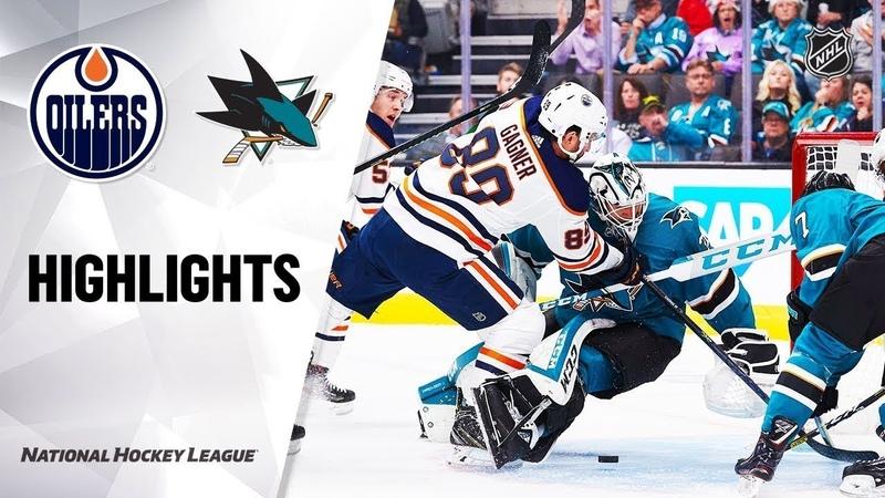 Сан-Хосе - Эдмонтон / NHL Highlights | Oilers @ Sharks 11/12/19