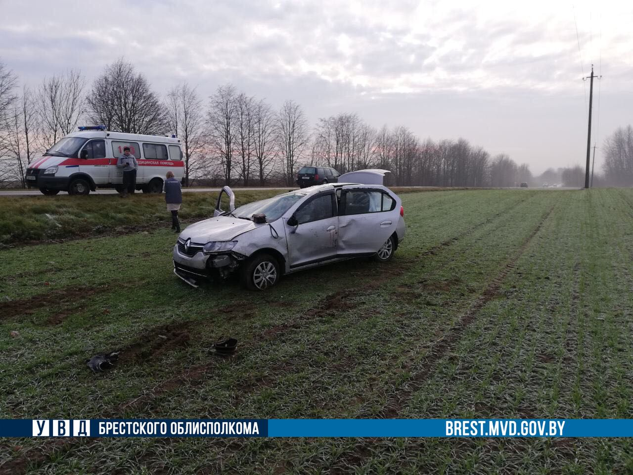 Погибла пассажирка «Рено Логан»: автомобиль перевернулся на автодороге Н-425
