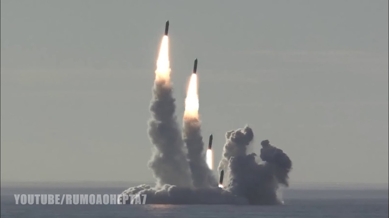 Russia's Nuclear Submarine Successfully Test-Fires 4 Bulava intercontinental Ballistic Missiles