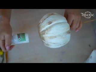 Тыква своими руками  Halloween  DIY Tsvoric