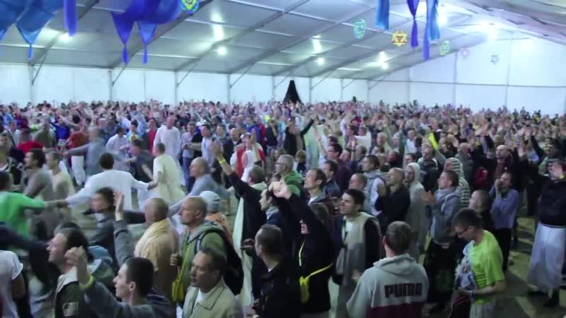 Крым,Фестиваль Бхакти Сангама 2013 - Вечерний киртан - ЕМ Мадхава прабху