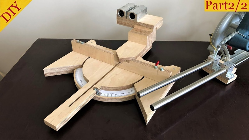 Homemade Miter Saw Build Part 2 Gönye Testere Yapımı 2 Bölüm
