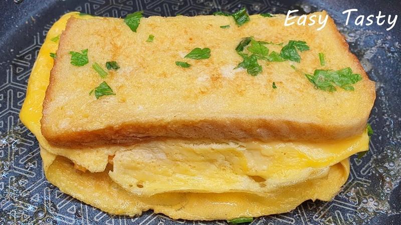 2 идеи быстрого завтрака Смачный тост с вареньем на скoвороде