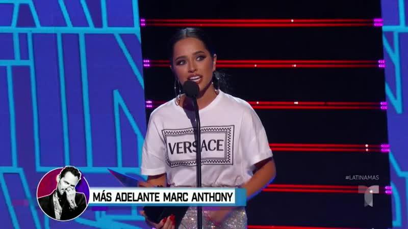 Вручение награды «Artista Favorita - Femenina» на премии «Latin AMA 2019»