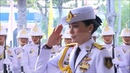 The King and Queen Sutida of thailand gave a sword and a diploma Police Cadet Academy