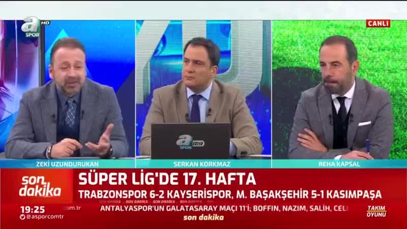 Trabzonspor 6 2 Kayserispor Başakşehir 5 1 Kasımpaşa Zeki Uzundurukan Maç Sonu Yorumaları