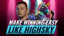 EXTREMELY Overpowered Techniques from SEN HighSky Fortnite Tips Tricks