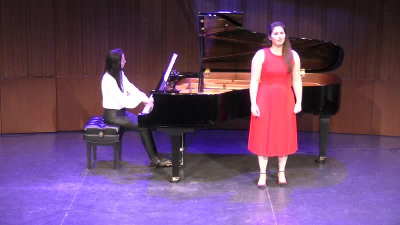 Р Штраус третья песня Офелии Arianne Cossette soprano Наталия Бабанова фортепиано