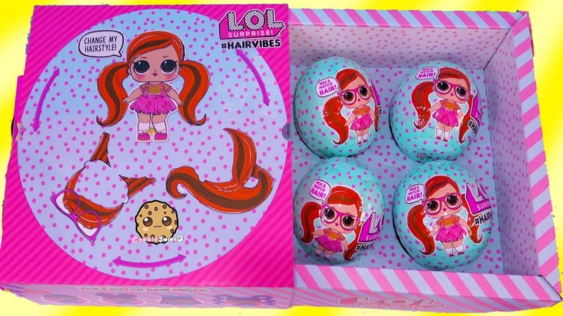 HairVibes NEW LOL Surprise Hair Style Mix Match Giant Surprise Blind Bag Balls