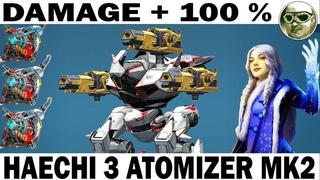 HAECHI 3 IVORY ATOMIZER MK2 & 3 OVERDRIVE UNIT 6LVL PILOT AMALIA 70 LVL T4 WAR ROBOTS + 100 % DAMAGE