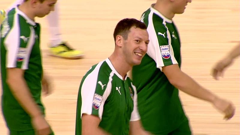 Красивый гол игрока Дины Глеба Разорёнова.